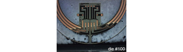 図3 円形の駆動部とパッシブ部のひずみゲージで構成。伊仏STMicroelectronics社のデータ