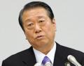 記者会見で衆院政治倫理審査会への出席を表明する民主党の小沢元代表(28日)=共同