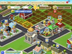 「CityVille」のゲーム画面