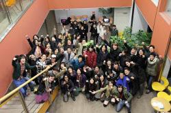 東京会場でGGJに参加した開発メンバーたち(東京・八王子の東京工科大学)
