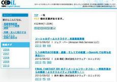 「CEDiL」のトップページ。登録制で無料で利用できる