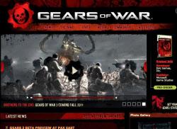 「ギアーズ・オブ・ウォー3」の公式サイト画面