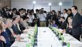 東日本大震災復興構想会議であいさつする菅首相(14日午後、首相官邸)