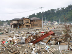 宮城県石巻市南浜町の被災地