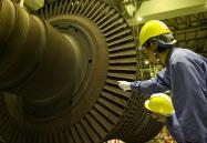震災で自動停止し、定期検査中の日本原子力発電・東海第2発電所(茨城県東海村)=日本原電提供