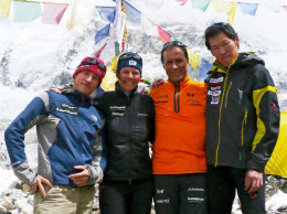 日本人初の快挙、8000メートル峰...