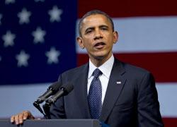 オバマ米大統領のエネルギー政策が非難を集めている(6月4日、ニューヨークで演説する同大統領)=AP