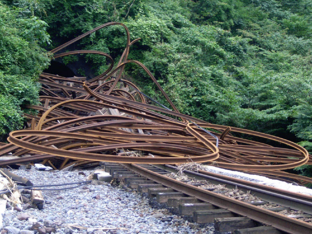 九州北部豪雨、JR豊肥本線の被害130カ所