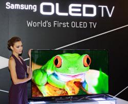 サムスンは有機ELテレビを年内に発売すると明言していた(5月、ソウル市内)