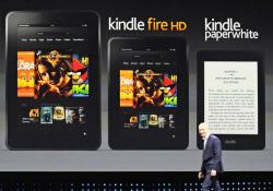 アマゾンの電子書籍端末「キンドル」のイベントの様子=2012年9月6日、サンタモニカ(ロイター)