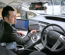プリウスPHVを土台に、自動走行自動車を開発するゼットエムピーの谷口社長