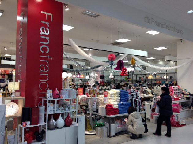 商業施設のテナントとしてフランフランの人気は高い(都内の店舗)
