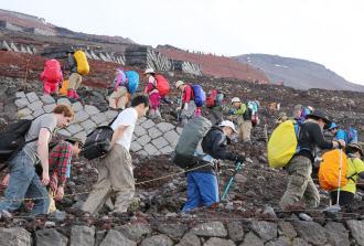 富士山の登山者