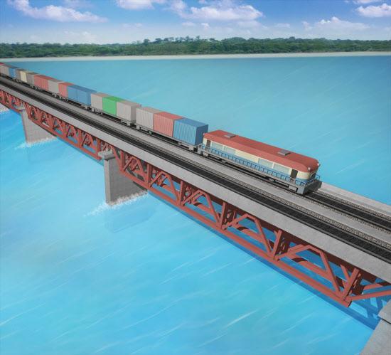 インド貨物専用線建設で橋梁の設...