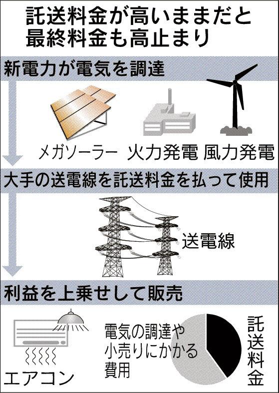 電力監視委、送配電網の使用料小幅減額 電力料金下げ限定的に 新電力は不満も