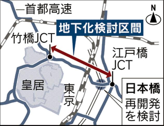 東京・日本橋の首都高高架、特区使い地下化 国交省や都