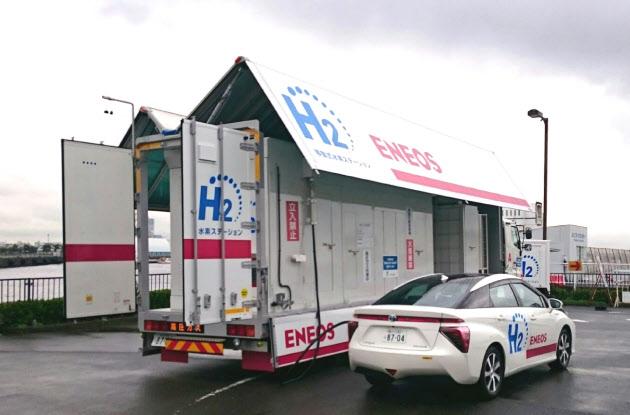 移動式の水素ステーション(横浜市)