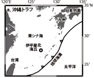 沖縄本島の沖合にある伊平屋北海丘などに試験装置を設置した(海洋研究開発機構提供)