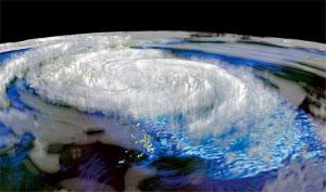 スーパーコンピューター「京」で細部まで再現した台風