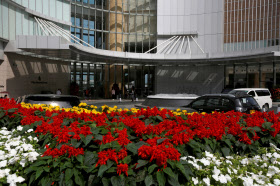 香港のフォーシーズンズホテル。肖建華氏が最後に目撃された場所だ=ロイター
