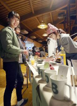 みさと天文台に開店したカフェ(昨年11月、和歌山県紀美野町)