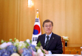 South Korean President Moon Jae-in attends an interview with Reuters at the Presidential Blue House in Seoul, South Korea June 22, 2017. REUTERS/Kim Hong-Ji