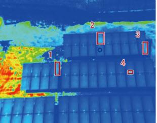ドローンで撮影した熱画像のイメージ(出所:中国電気保安協会)