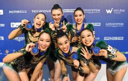 世界新体操、団体総合で日本「銅...