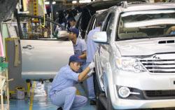 ベトナムの自動車市場は伸び盛り(トヨタ自動車の現地工場)