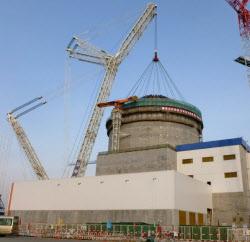 東芝は、米ウエスチングハウスが米中両国で建設中の原発「AP1000」を英国にも建設する計画だった(写真は中国浙江省)