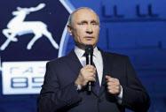 プーチン氏は6日、西部ニジニーノブゴロドで出馬表明した=AP