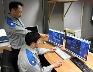 気象予報などをもとに翌日の電力需給を予測する再生可能エネルギー運用システム(福岡市)