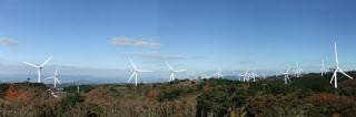 稼働ベースで国内最大の発電規模の新青山高原風力発電所(青山高原ウインドファーム提供)