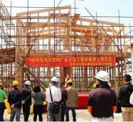 輸出増には現地での需要開拓も不可欠(広東省東莞市のモデルルーム建築の様子)
