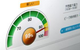 東京電力のホームページに掲載される電力使用見通し「でんき予報」