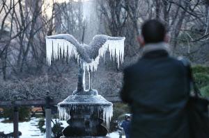 東京都心で氷点下4度 48年ぶり :...
