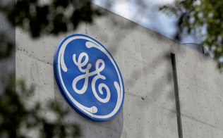 The logo of General Electric Co. is pictured at the Global Operations Center in San Pedro Garza Garcia, neighbouring Monterrey, Mexico, on May 12, 2017. REUTERS/Daniel Becerril - RC1A633B01B0