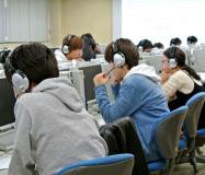 京都工繊大では1年生全員がスピーキングテストを受ける(昨年12月)