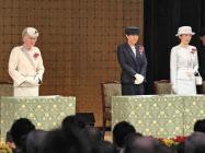 全国赤十字大会に出席した(左から)皇后さま、皇太子妃雅子さま、秋篠宮妃紀子さま(16日午前、東京都渋谷区の明治神宮会館)=代表撮影・共同
