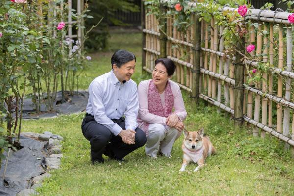結婚25周年を迎えた皇太子ご夫妻(6月5日、東京・港の東宮御所内庭)=宮内庁提供