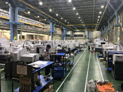 工作機械は史上最高レベルの受注水準が続いている(シチズンマシナリーの軽井沢本社)