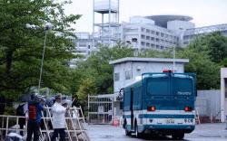 オウム真理教の元代表、松本智津夫死刑囚の刑が執行された東京拘置所(6日午前、東京都葛飾区)