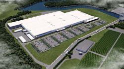 パナソニックと米テスラが共同設立した太陽電池工場(米ニューヨーク州)