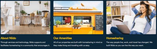 エアビーでの貸し出しを想定した専用マンション「Niido powered by Airbnb」のサイト