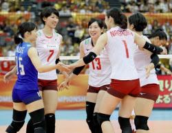 日本女子、プエルトリコに快勝 ...