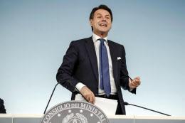 イタリアの予算案が欧州委に差し戻された(コンテ首相)=ANSA・AP