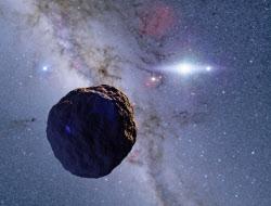 発見された微小天体の想像図=有松亘さん提供・共同
