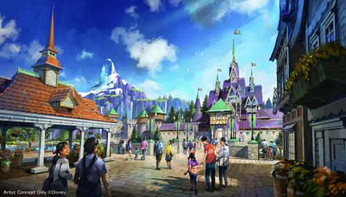 2022年度開業予定の「アナと雪の女王」をテーマとしたエリアのイメージ=共同