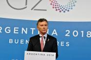 マクリ大統領が進めた開放的な経済政策はなかなか成果が出ていない(2018年12月、ブエノスアイレス)