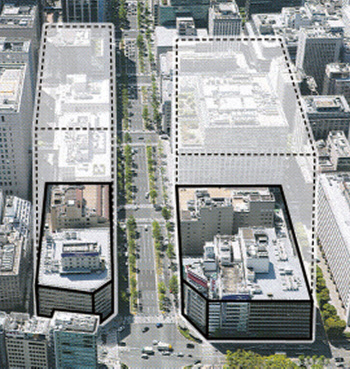 【大阪】淀屋橋にツインビル建設へ 高さ135m・150m 御堂筋の顔に